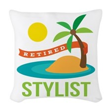 Retired Stylist Woven Throw Pillow