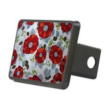 Cute Red Floral Pattern Hitch Cover