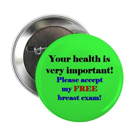 """Free Breast Exam"" Button (10 pack)"
