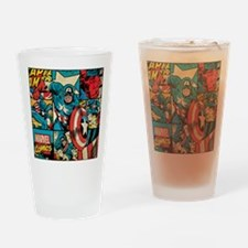 Captain America Collage Drinking Glass