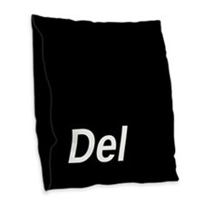 Delete Key Burlap Throw Pillow