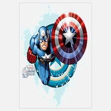 Captain America Flying Wall Art
