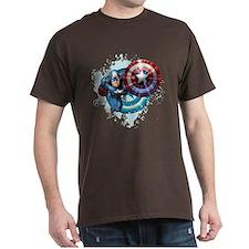 Captain America Flying T-Shirt