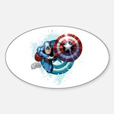 Captain America Flying Sticker (Oval)