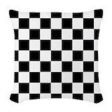 Black and white checkered Woven Pillows