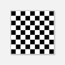 Black And White Checkered Sticker