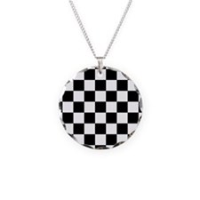 Black And White Checkered Necklace