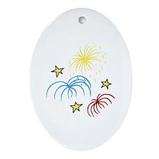 Fireworks Ornament (Oval)