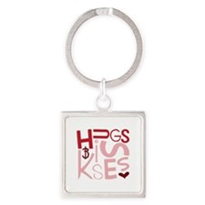 Hugs and Kisses Keychains