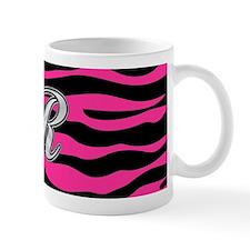 HOT PINK ZEBRA SILVER R Mugs