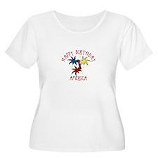Happy Birthday America Plus Size T-Shirt