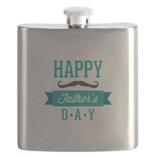 Happy father's day moustache Flask