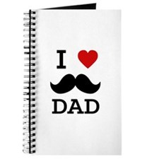 I love dad moustache Journal