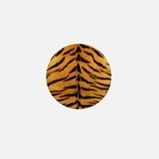 Tiger Fur Print Mini Button