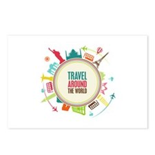 Travel around the world Postcards (Package of 8)