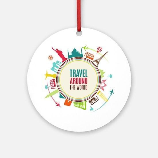 Travel around the world Ornament (Round)