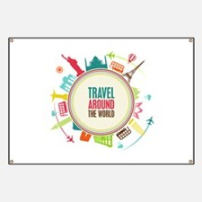 Travel around the world Banner