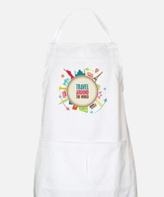Travel around the world Apron