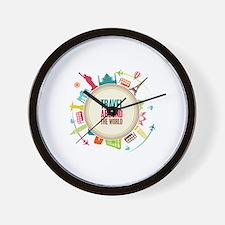 Travel around the world Wall Clock