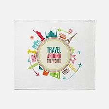 Travel around the world Stadium Blanket