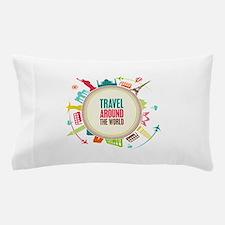 Travel around the world Pillow Case