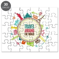 Travel around the world Puzzle