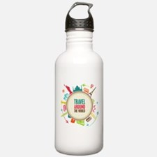 Travel around the world Water Bottle