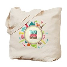 Travel around the world Tote Bag