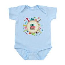 Travel around the world Infant Bodysuit