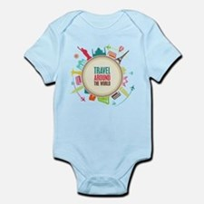 Travel around the world Infant Bodysuit