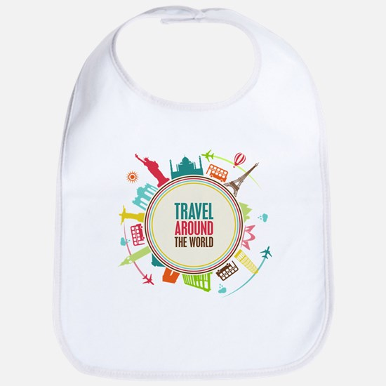 Travel around the world Bib