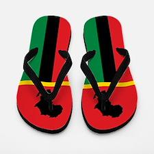 Africa African Pan Africa Flag Flip Flops