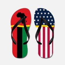 Africa African American Flag Flip Flops