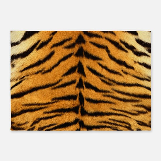 Tiger Fur Print 5'x7'Area Rug