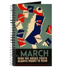 Vintage Library Poster Writing Journal