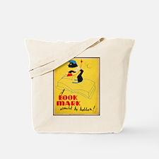 Vintage Library Poster Tote Bag