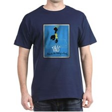 Vintage Library Poster T-Shirt