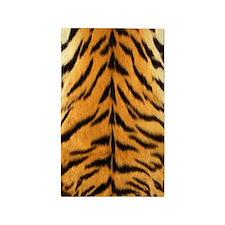 Tiger Fur Print 3'x5' Area Rug