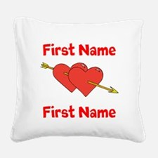 Loves Square Canvas Pillow
