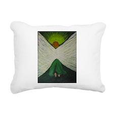 Green Angel Rahael Rectangular Canvas Pillow