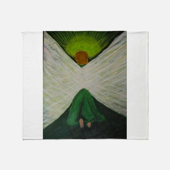 Green Angel Rahael Throw Blanket