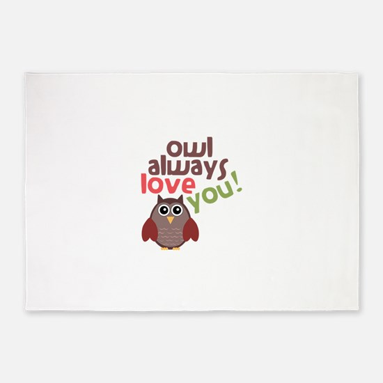 Owl Always Love You! 5'x7'Area Rug