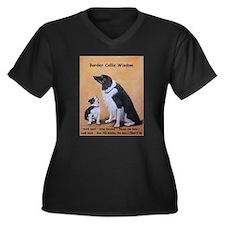 Border Colli Women's Plus Size V-Neck Dark T-Shirt