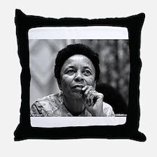 Dr Margaret Burroughs B/W Throw Pillow