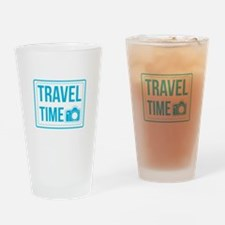 Travel time Drinking Glass