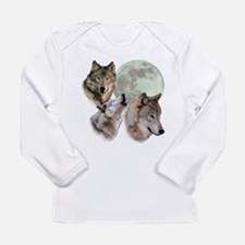 3 Wolf Moon Long Sleeve T-Shirt