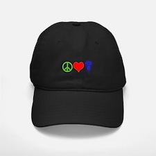PEACE, LOVE, LACROSSE Baseball Hat