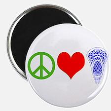 PEACE, LOVE, LACROSSE Magnet