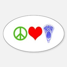 PEACE, LOVE, LACROSSE Decal