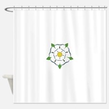 Heraldic Rose Shower Curtain